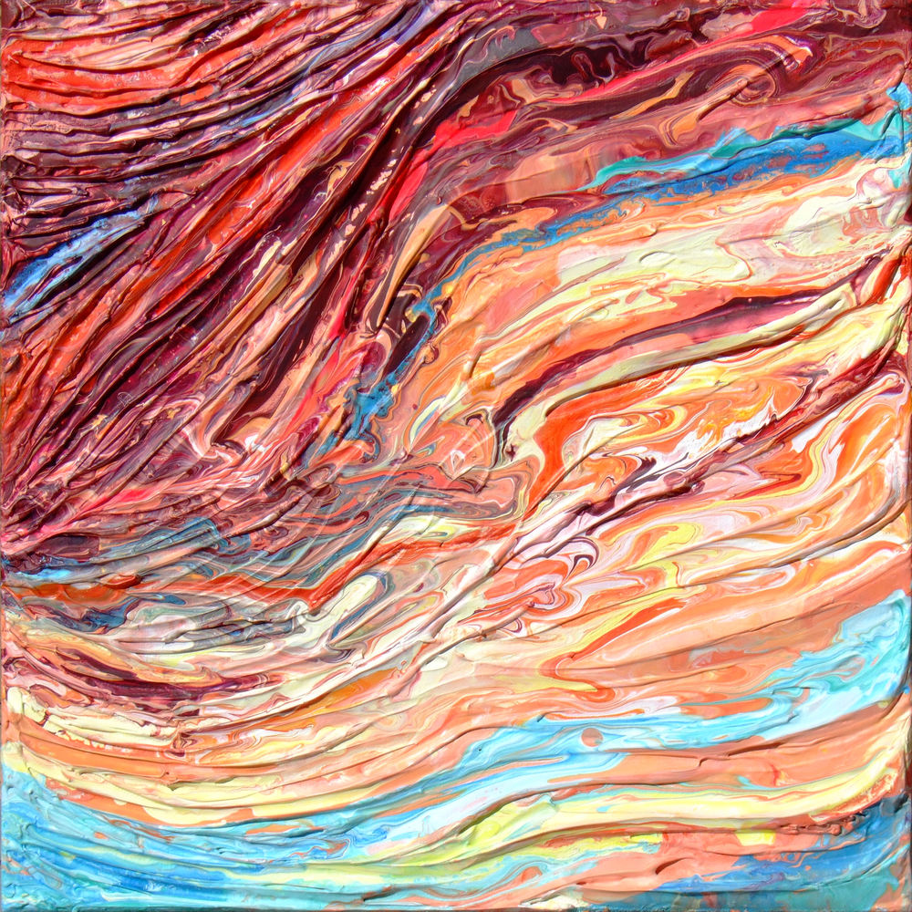 Abstract Rock Painting - Strata #1