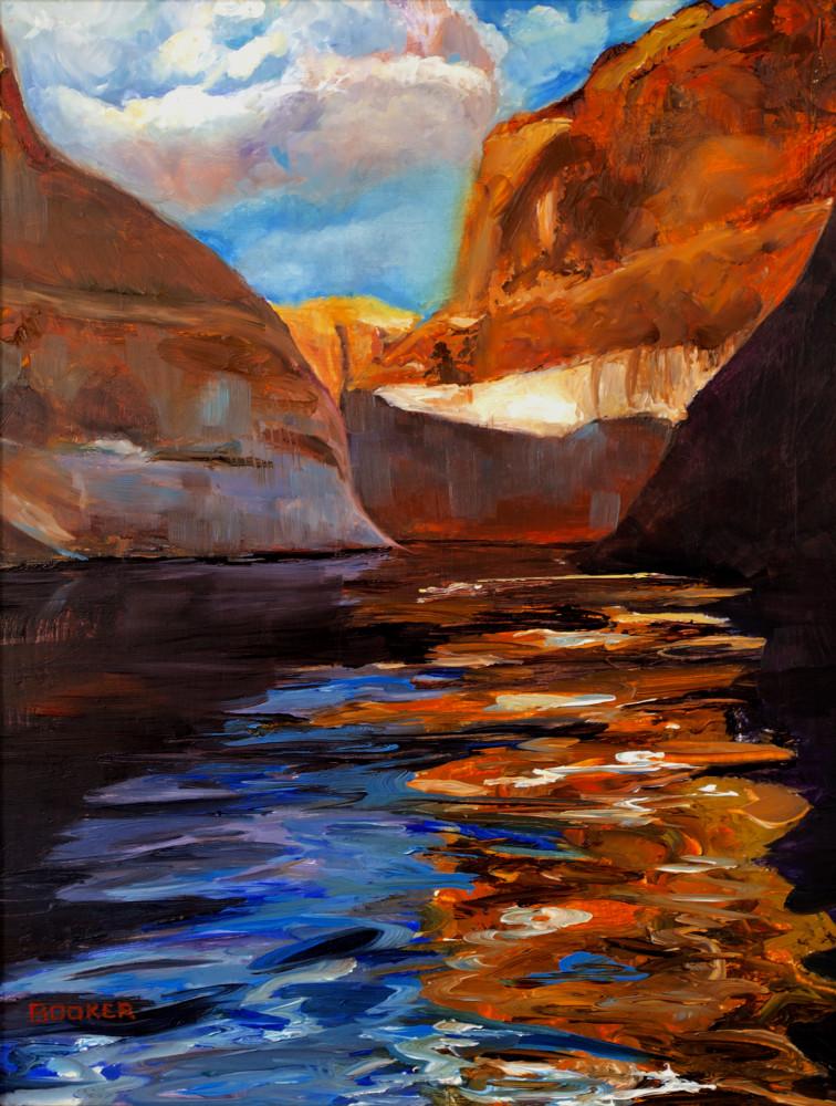 Moki Canyon red rock oil painting art prints from artist Booker Tueller