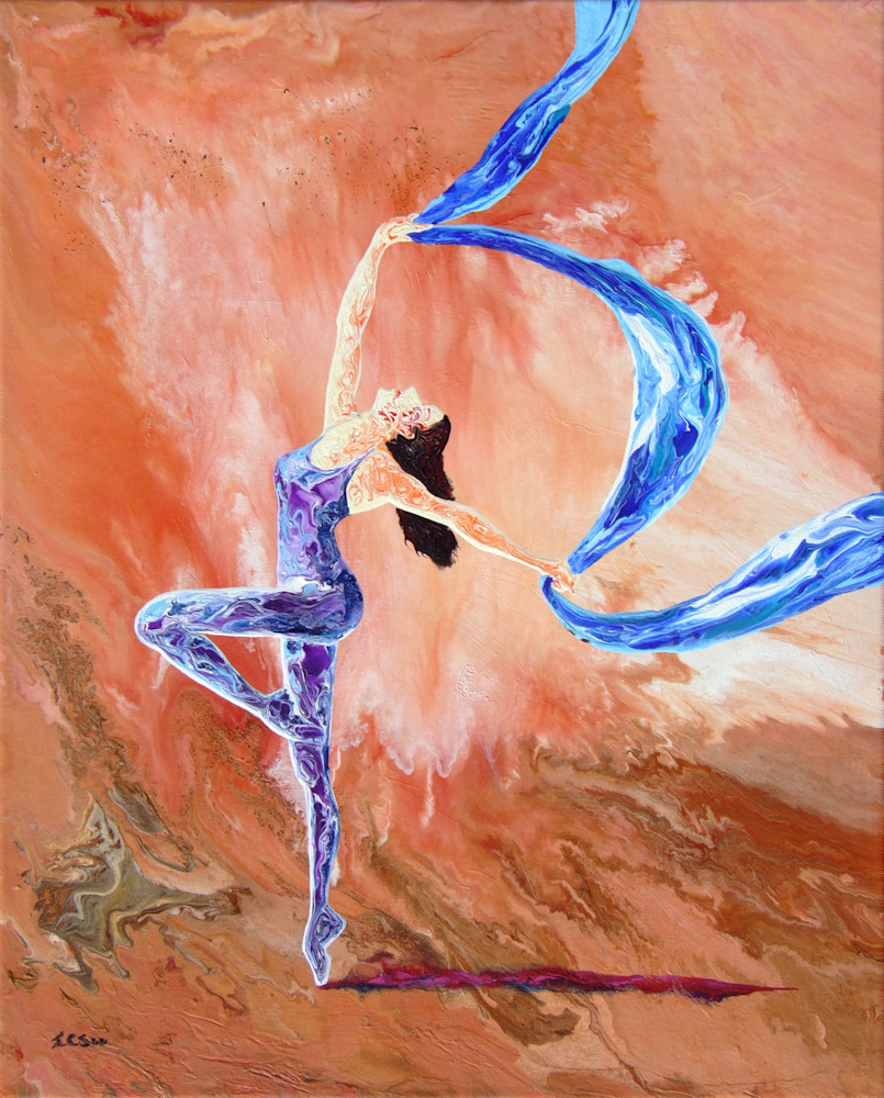 Abstract Ballerina Art, Tale of The Night