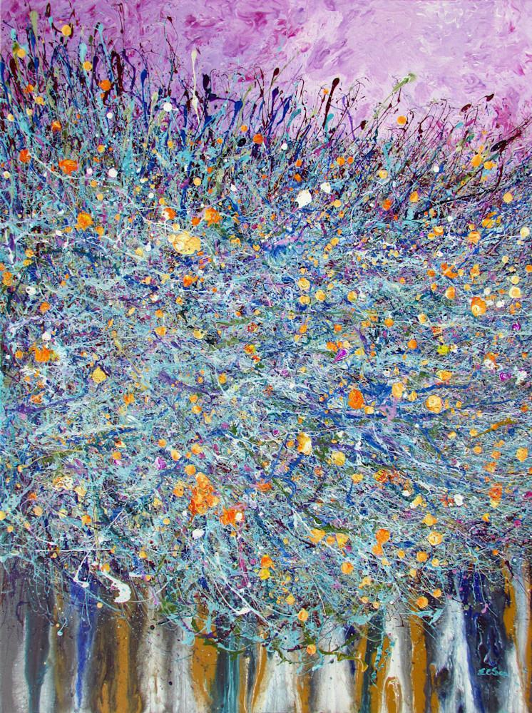 Abstract Painting Desert Wildflowers #22, Wildflowers Artist - EnChuen Soo