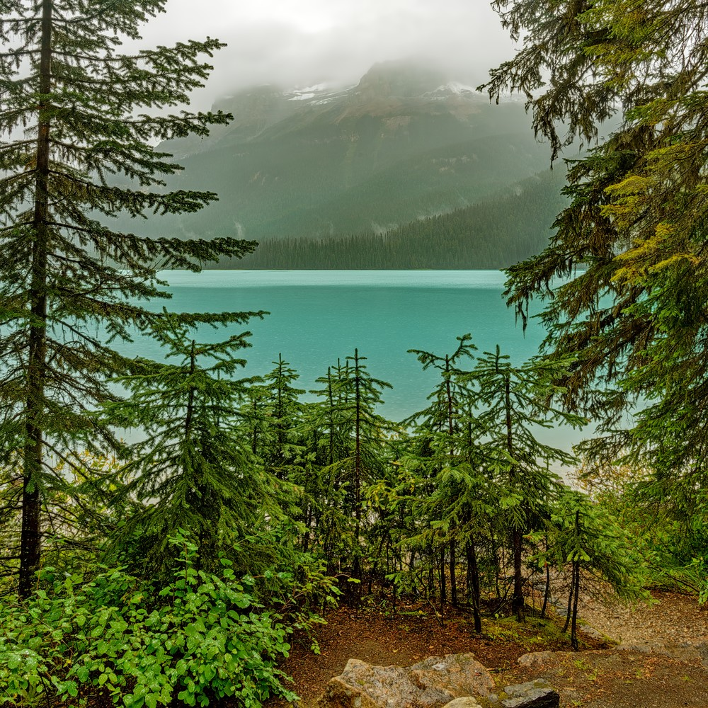 Emerald Lake in storm