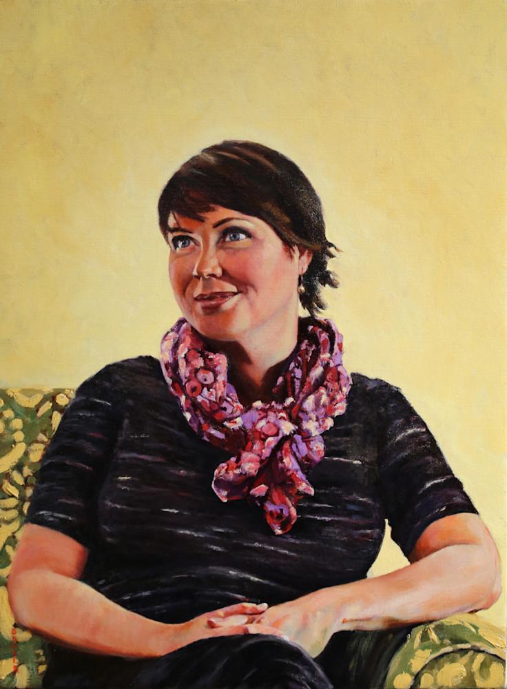Elizabeth, original oil painting portait and art print from artist Booker Tueller