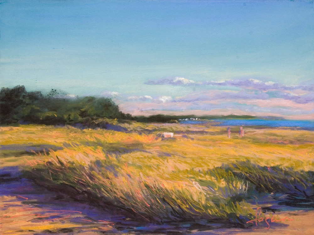 Stunning Cape Cod Beach Art Print Painting on Canvas or Watercolor Paper, Southern Exposure by Dorothy Fagan