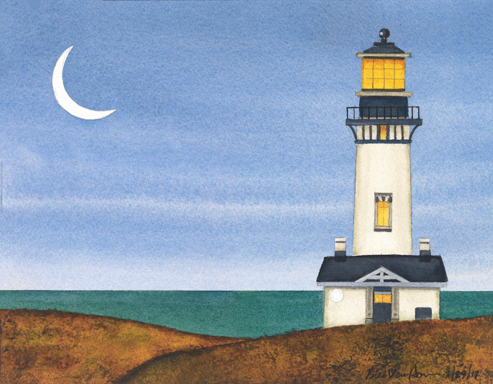 Oregon Places   Yaquina Head Lighthouse Art | Willow Walk Art