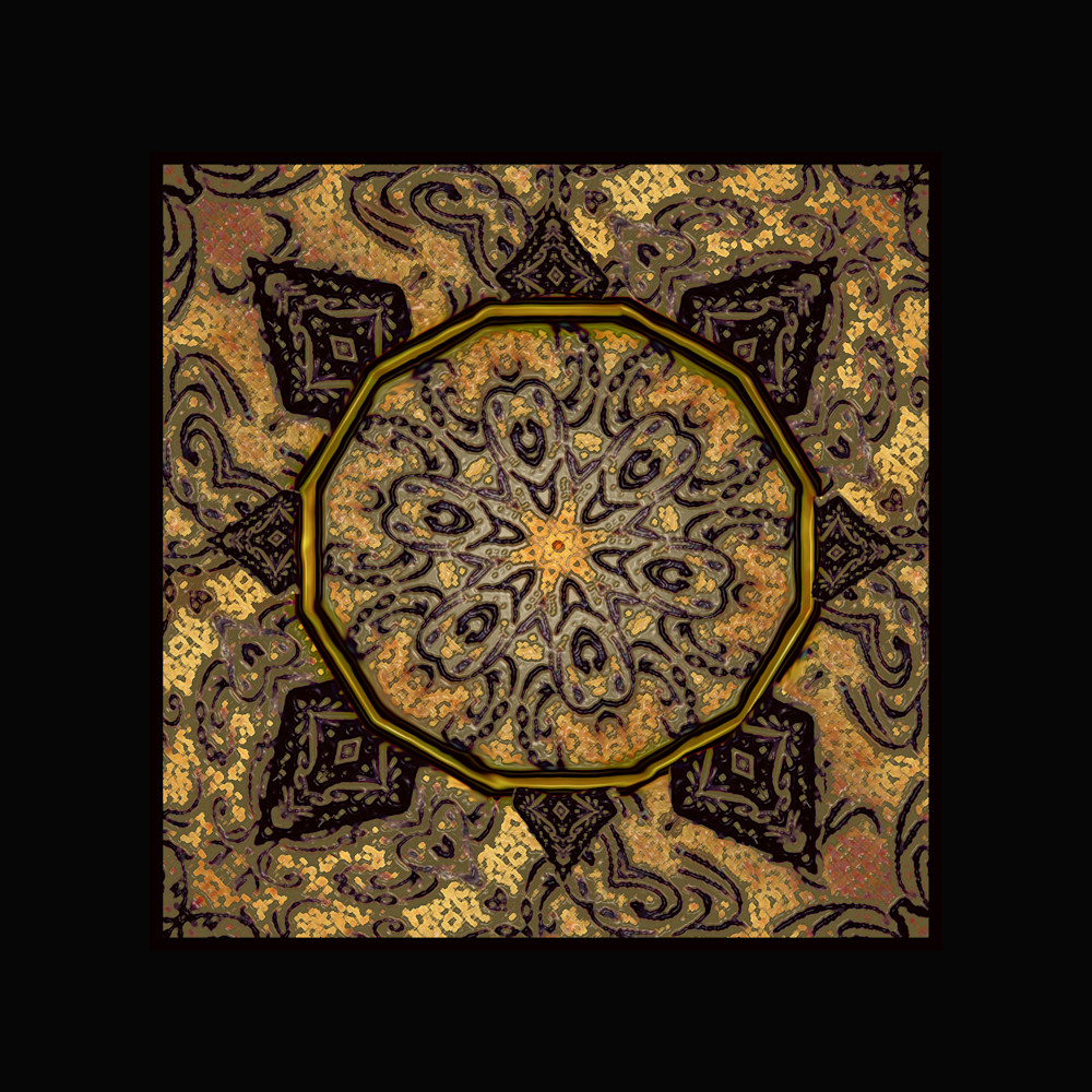 Mandala Golden Day Art paintings for sale | Grimalkin Studio