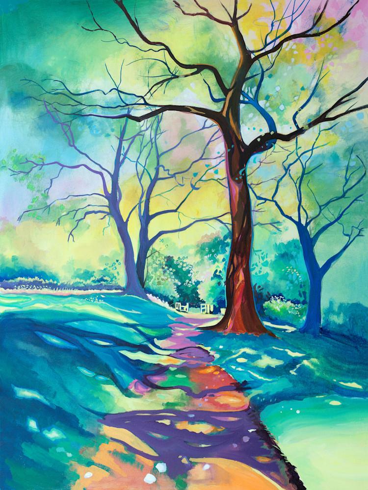 Colourful Fine Art  Woodland Print