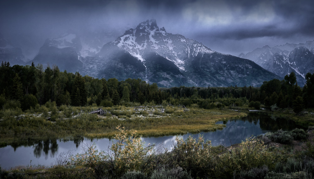 Stormy Grand Tetons, d'Ellis Photographic Art photographs, Elsa