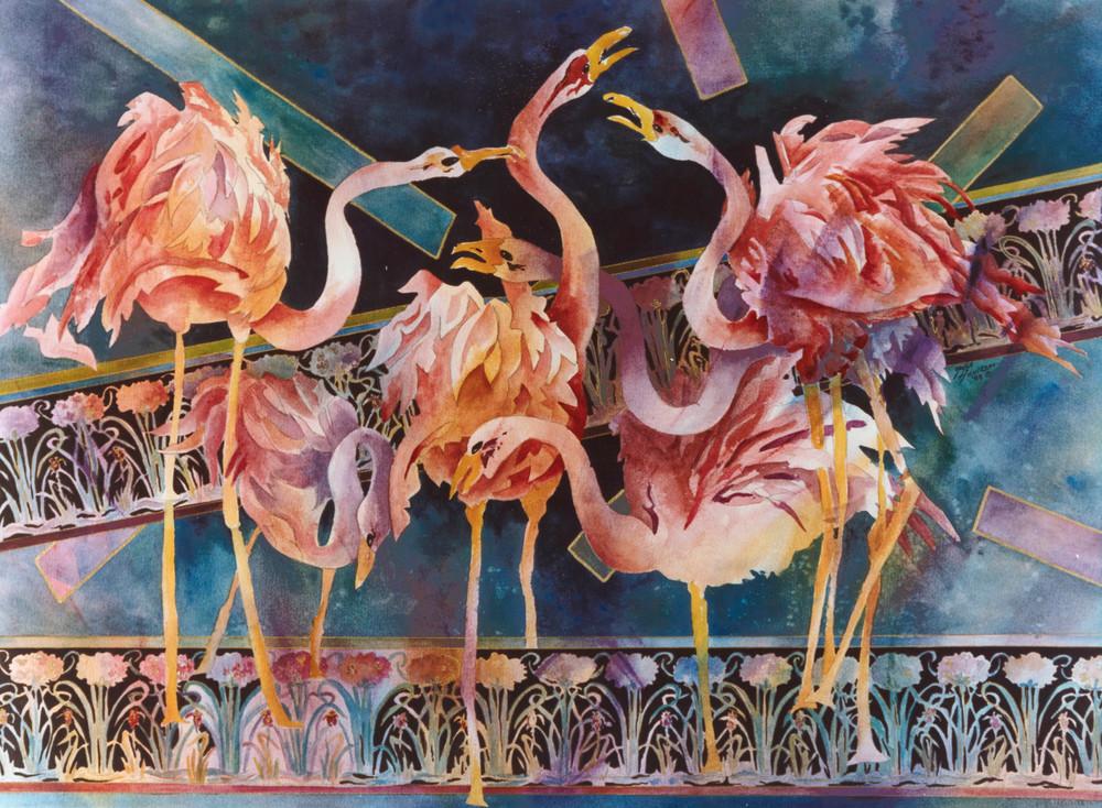 Buy this fine art watercolor by artist Gayle Faulkner.  Lu Lu Fluff My Tutu Will You?