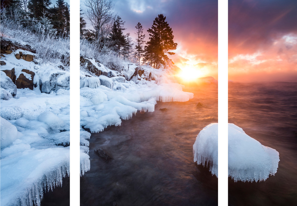 Ethereal sunrise along Lake Superior