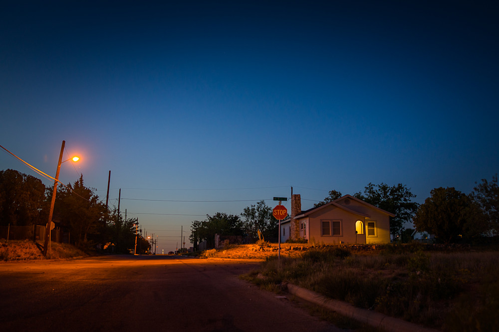 Photography, Southwest, Texas, nocturne, dusk, Big Spring,