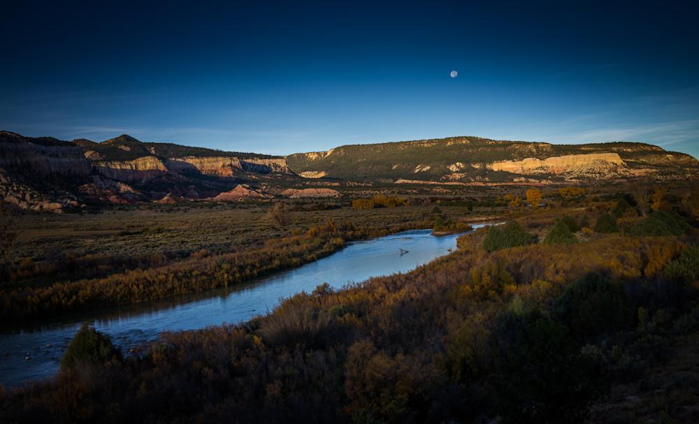 Autumn, Landscape, Photography, Southwest, Chama River, New Mexico, Nocturne, Dusk, river