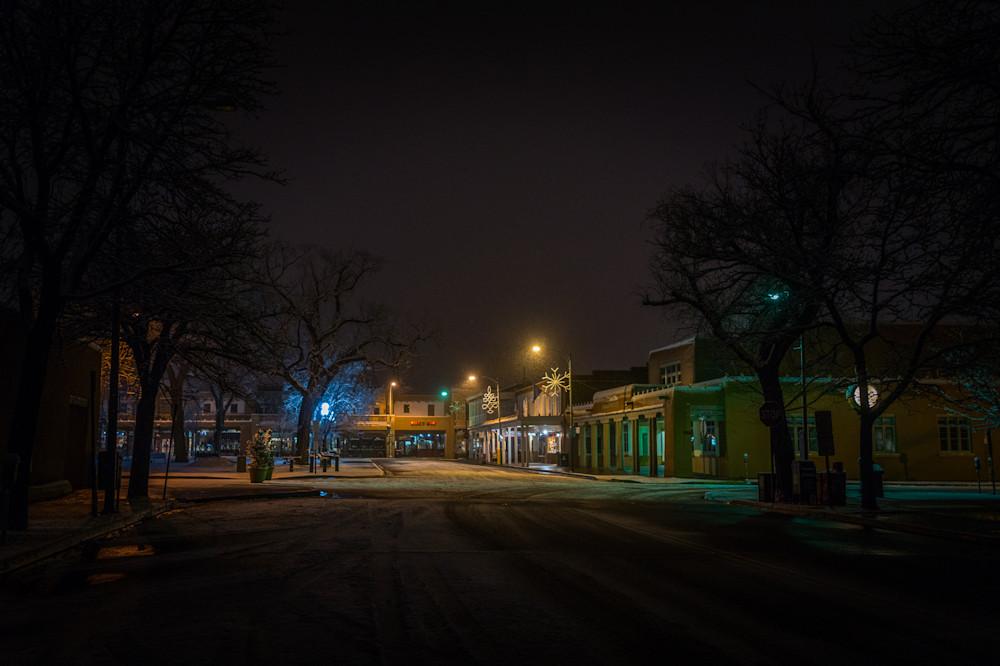 Photography, Santa Fe, Southwest, winter, Plaza, Nightscape, Nocturne, New Mexico,