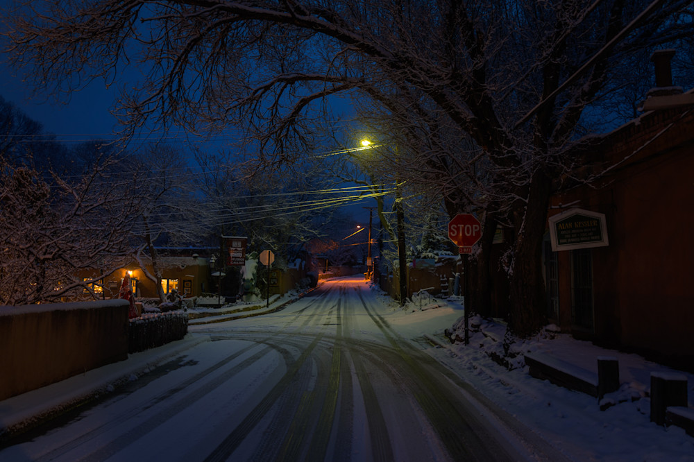 New Mexico, Photography, Santa Fe, Southwest, nocturne, winter, nightscape