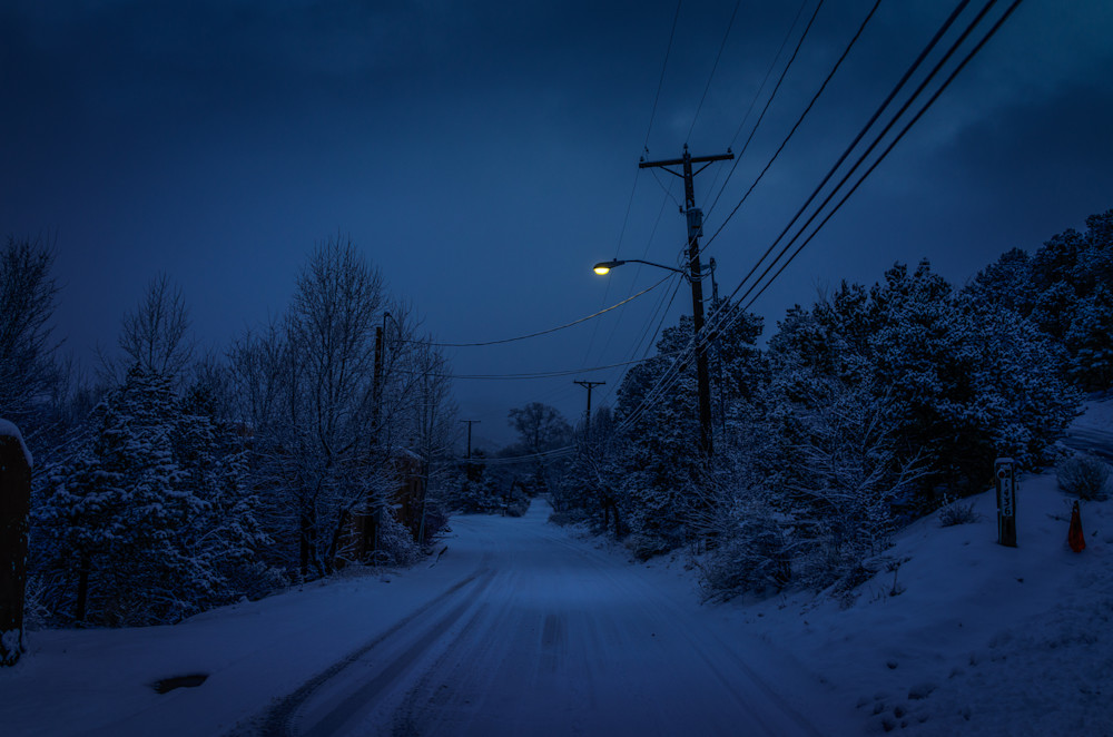 Landscape, New Mexico, Photography, Santa Fe, Southwest, nocturne, winter,nightscape