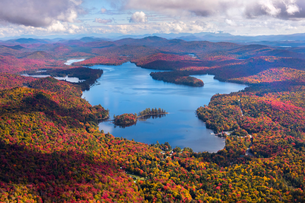 Big Moose Lake Fall Aerial