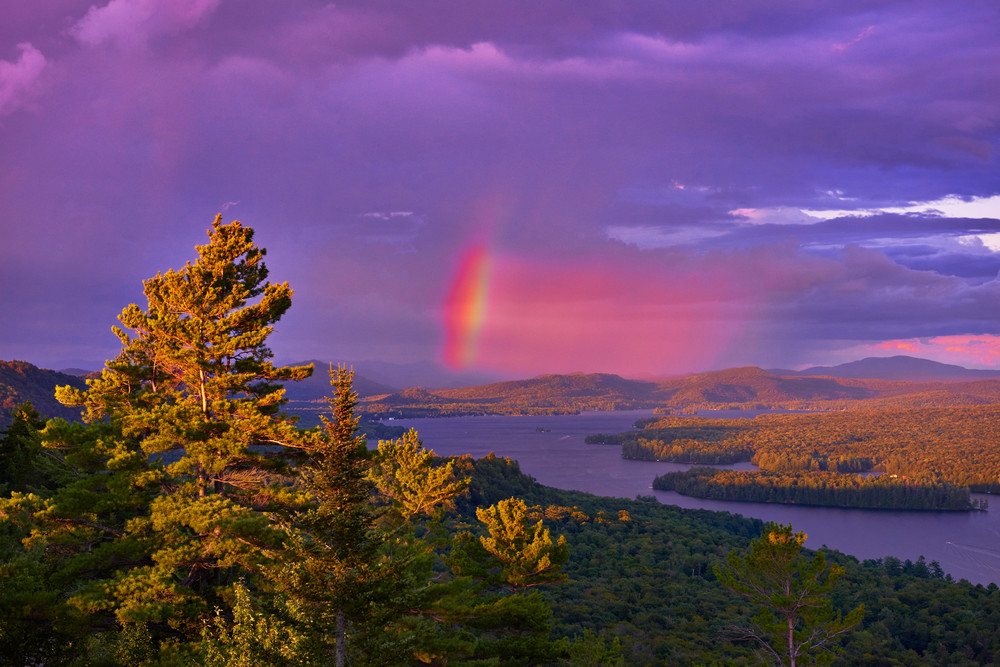 4th Lake Rainbow From Bald Mt Fire tower