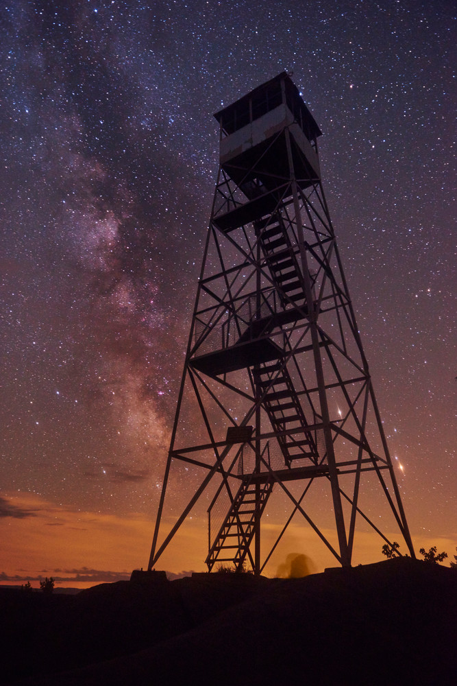 Bald Mt Fire Tower with Milky Way