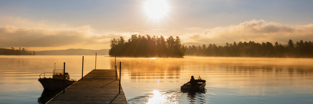 Raquette Lake Boat Launch Sunrise