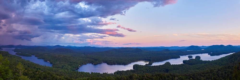 1st 4th Lake Panoramic From Bald Mt Photography Art | Kurt Gardner Photogarphy