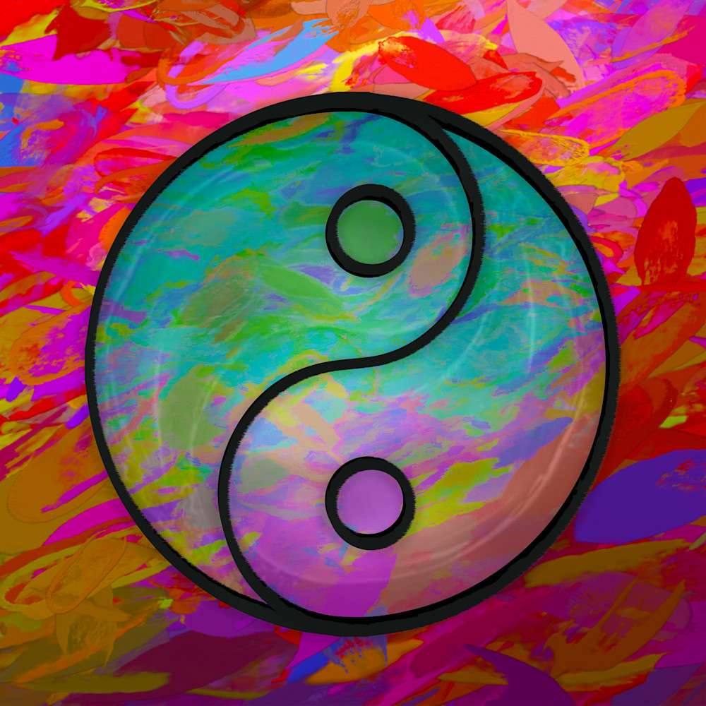 Colorful Yin Yang Art paintings for sale | Grimalkin Studio