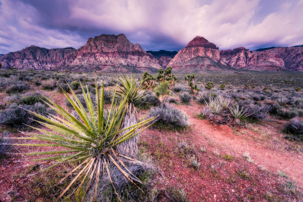 Spring Clouds Over Red Rock by Douglas Sandquist Fine Art Photography