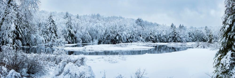 Moose River Green Bridge Winter View Photography Art | Kurt Gardner Photogarphy Gallery