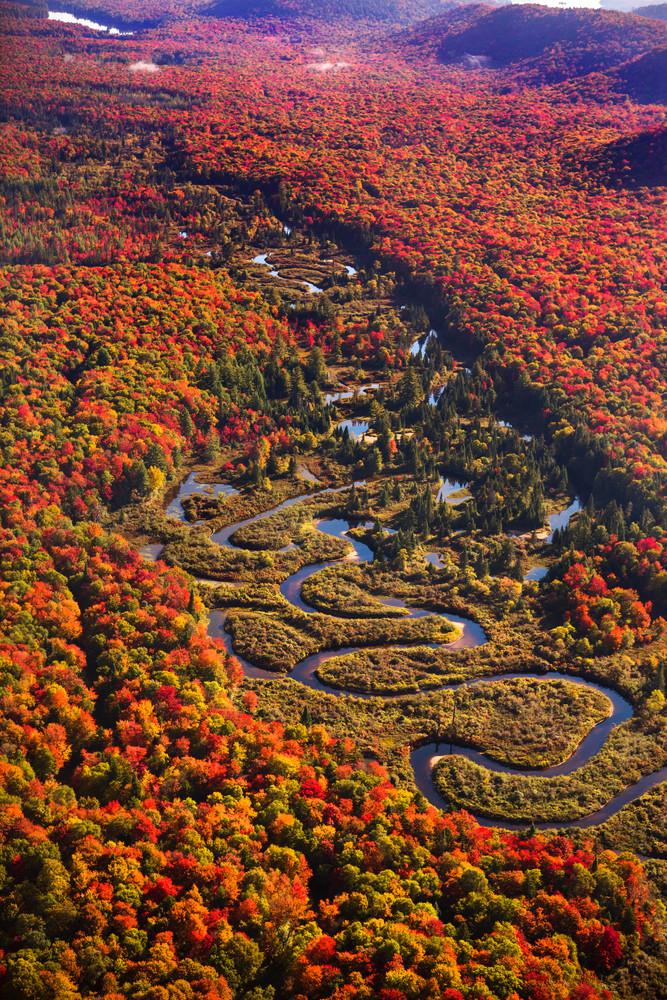 Moose River Fall Aerial Photography Art   Kurt Gardner Photogarphy Gallery