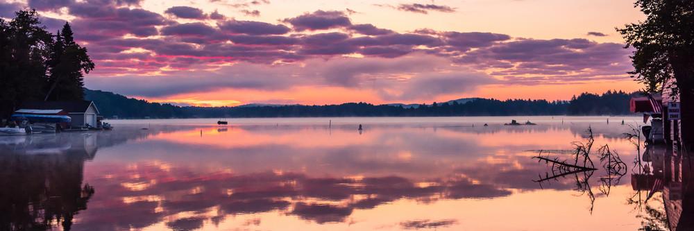 Old Forge Channel Sunrise Panoramic Photography Art | Kurt Gardner Photogarphy Gallery