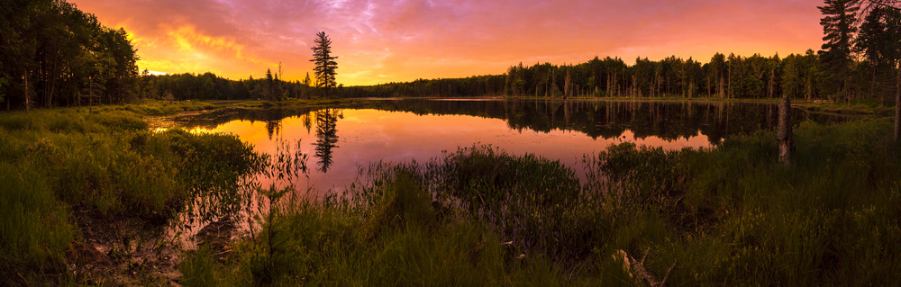 Twin Ponds Sunrise Panoramic