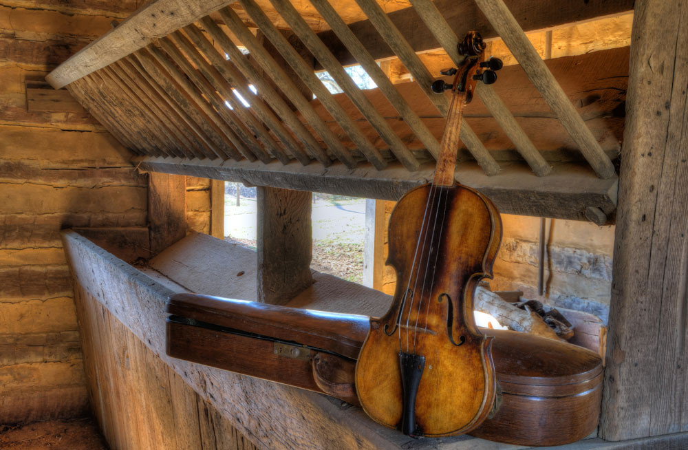 Rustic Violin Photography Art   Instrumental Art