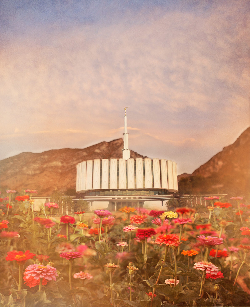 Provo Temple Flowers Art | Mandy Jane Williams Art