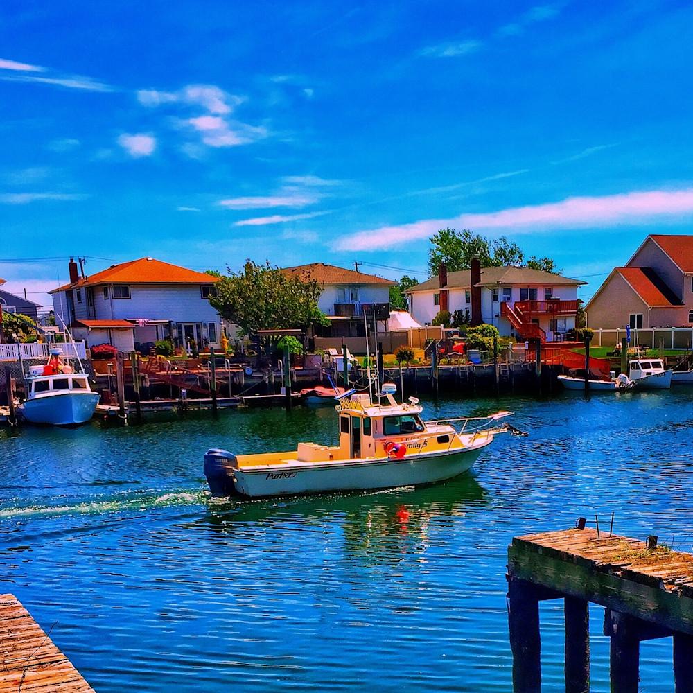 Boating In Freeport, Li Photography Art | Cynthia Cincotti Art
