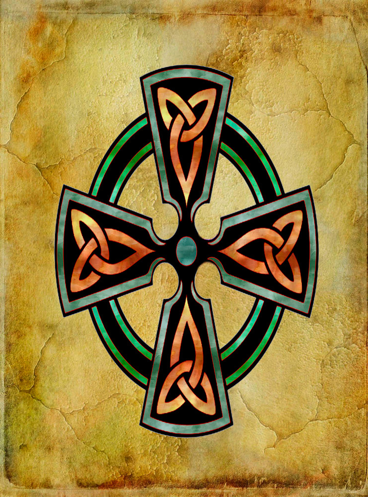 Watercolor Celtic Cross Rectangle Art paintings for sale | Grimalkin Studio