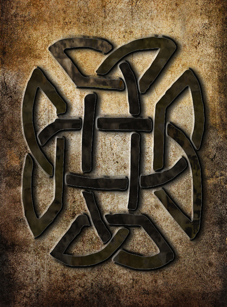 Celtic Metalwork Rectangle  Art | Grimalkin Studio