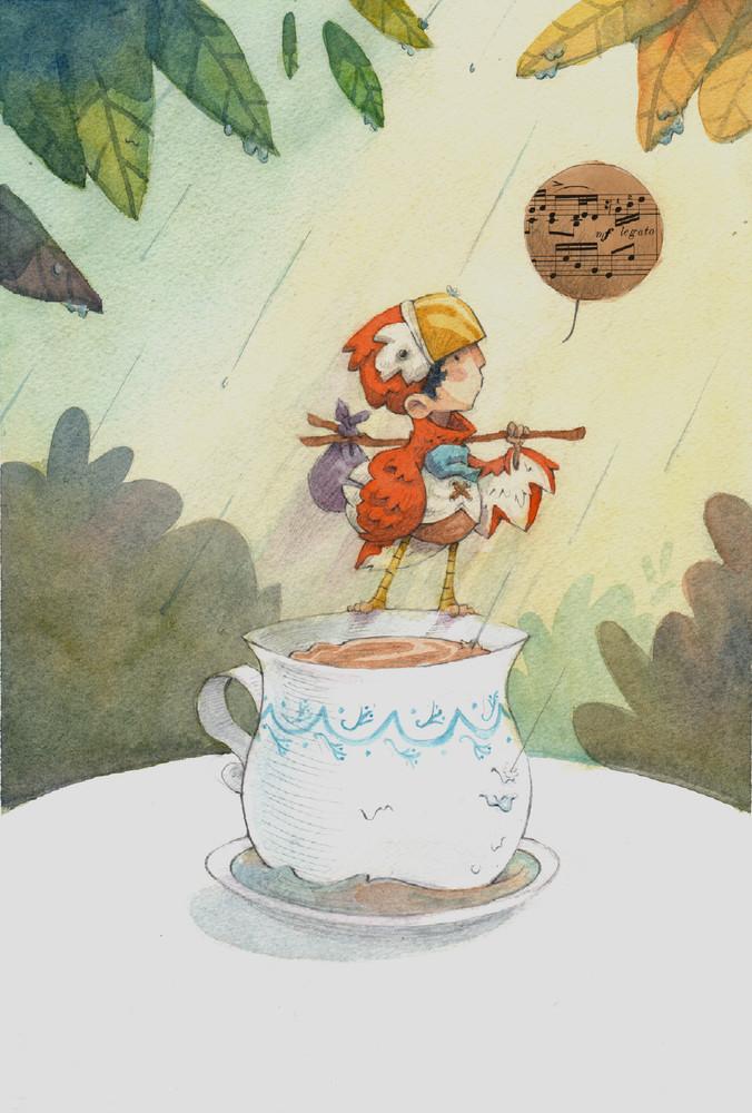 A Boy Named Bird Illustration Painting by James Serafino