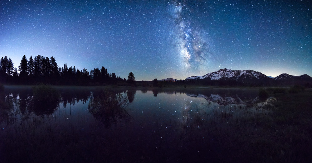 Limited Edition Brad Scott Print - Look Up Lake Tahoe Mount Tallac Milkyway Print