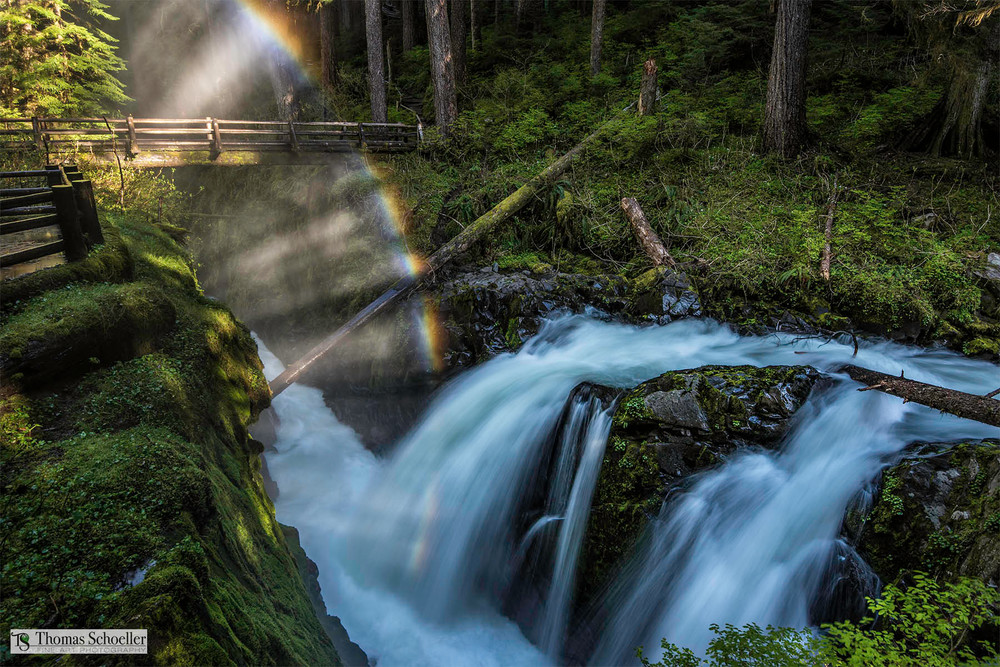 Sol Duc Falls fine art landscape photography large format print media/Thom Schoeller nature photos