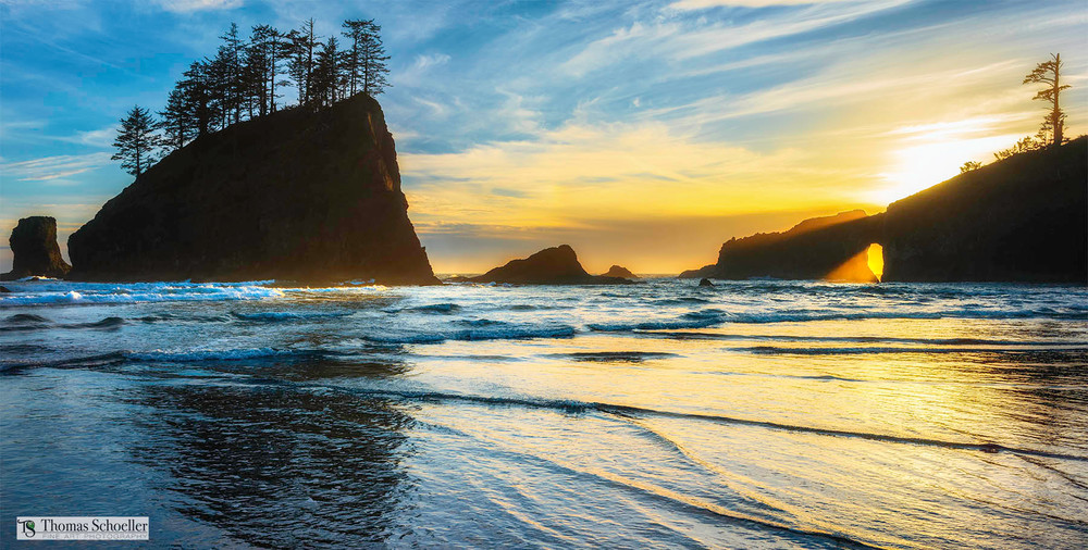 The wonderful wilderness of Second Beach captured in dramatic fashion by landscape photographer Tom Schoeller/Purchase fine art prints here