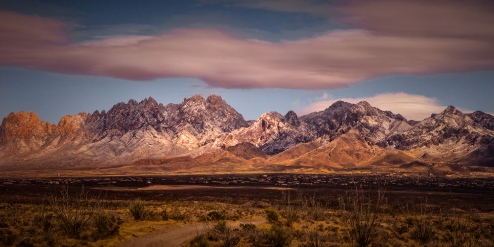 Wintery Organ Mountains, d'Ellis Photographic Art photographs, Elsa