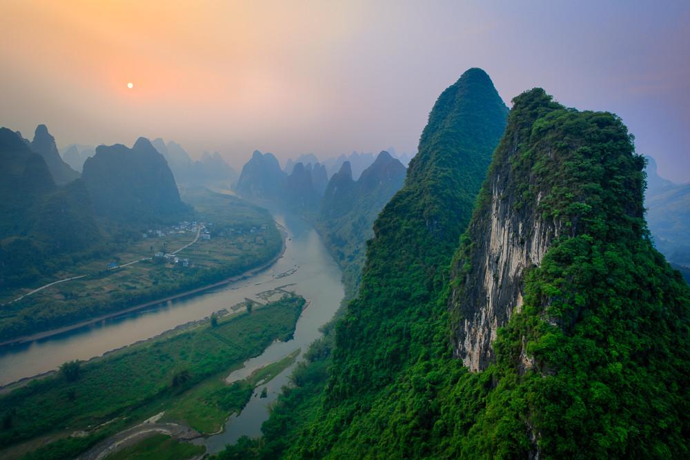 Xianggong Mountain Sunrise