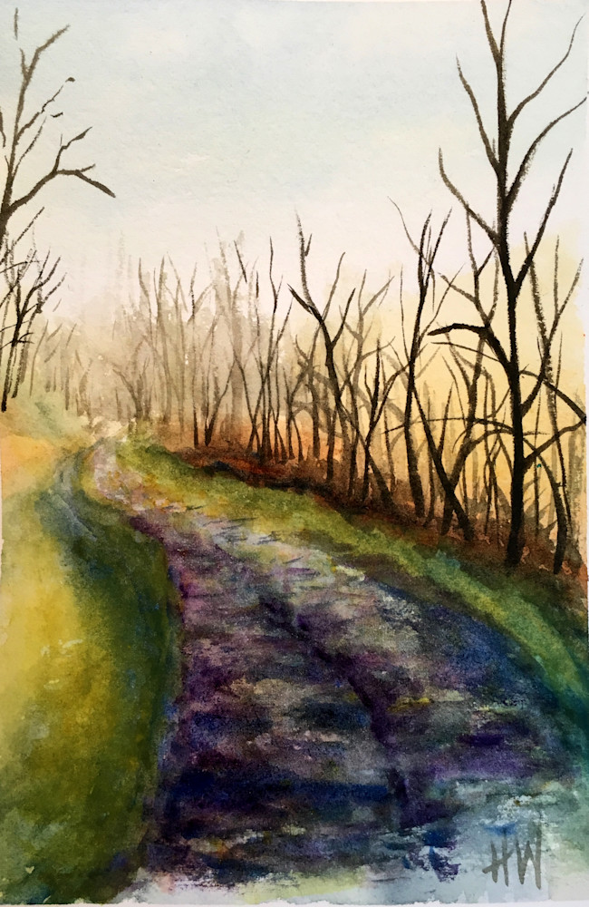 Sunrise Path Art | Holly Whiting Art