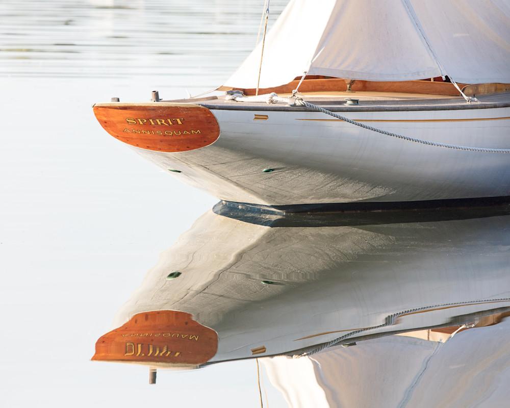 """Spirit"" Annisquam River, Gloucester MA, Cape Ann Fine Art Sailboat Photograph"