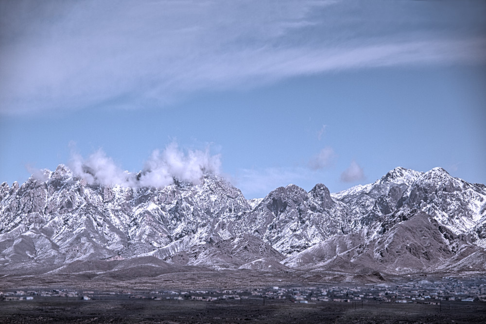 Photographs of Snow-Powdered Organ Mountains | d'Ellis Photographic Art by Bill