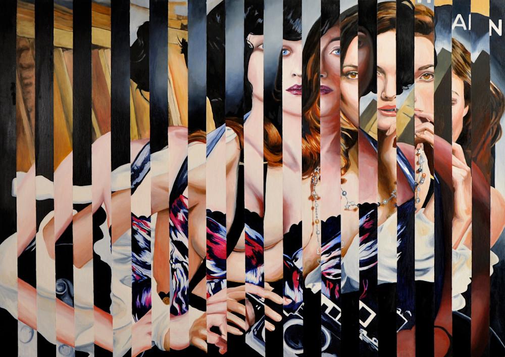 Binary Stars Splice Painting by Wet Paint NYC Artist Michael Serafino