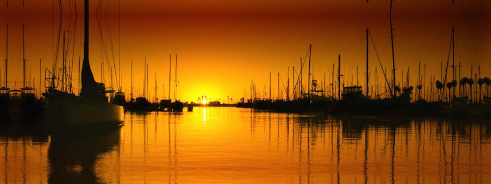 """Ventura Harbor Sunset"""