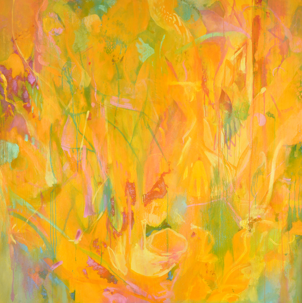 Indian Summer Painting by Wet Paint NYC Artist Ari Lankin