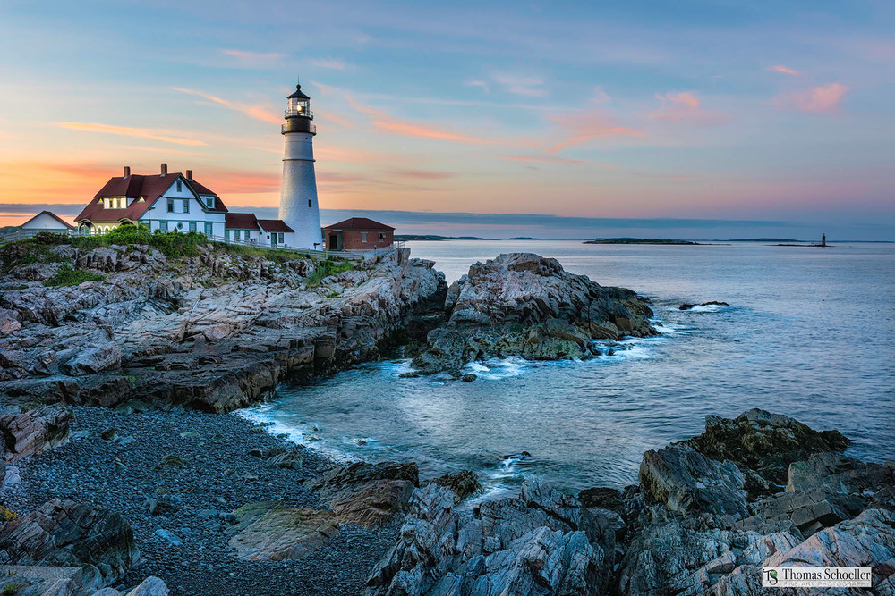 The ULTIMATE Lighthouse fine art decor print! Portland Head Lighthouse by photographer Tom Schoeller for the Maine lover in you.