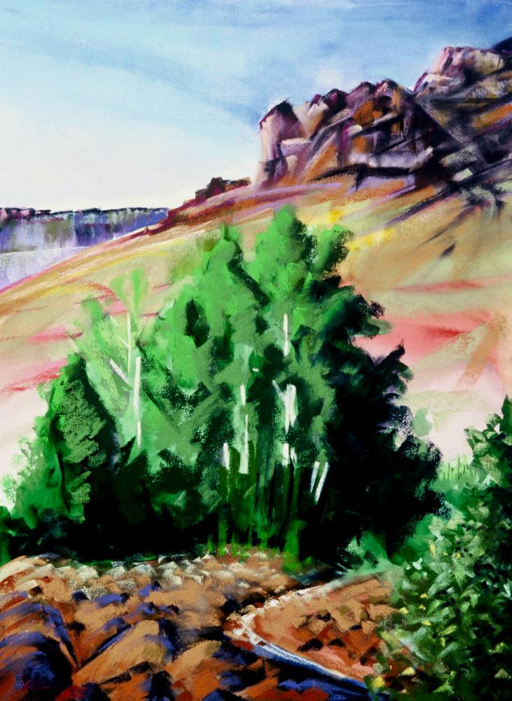 landscape painting steens mountain blitzen canyon