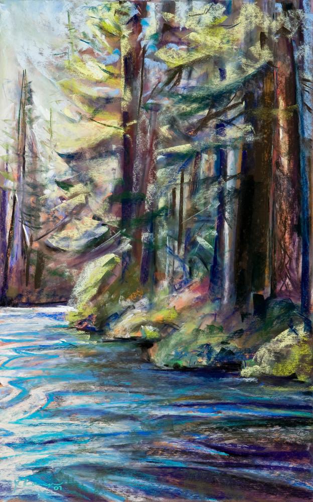 landscape painting central oregon metolius river