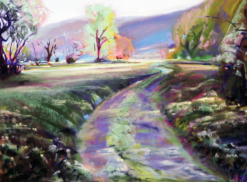 landscape painting columbia river gorge oregon